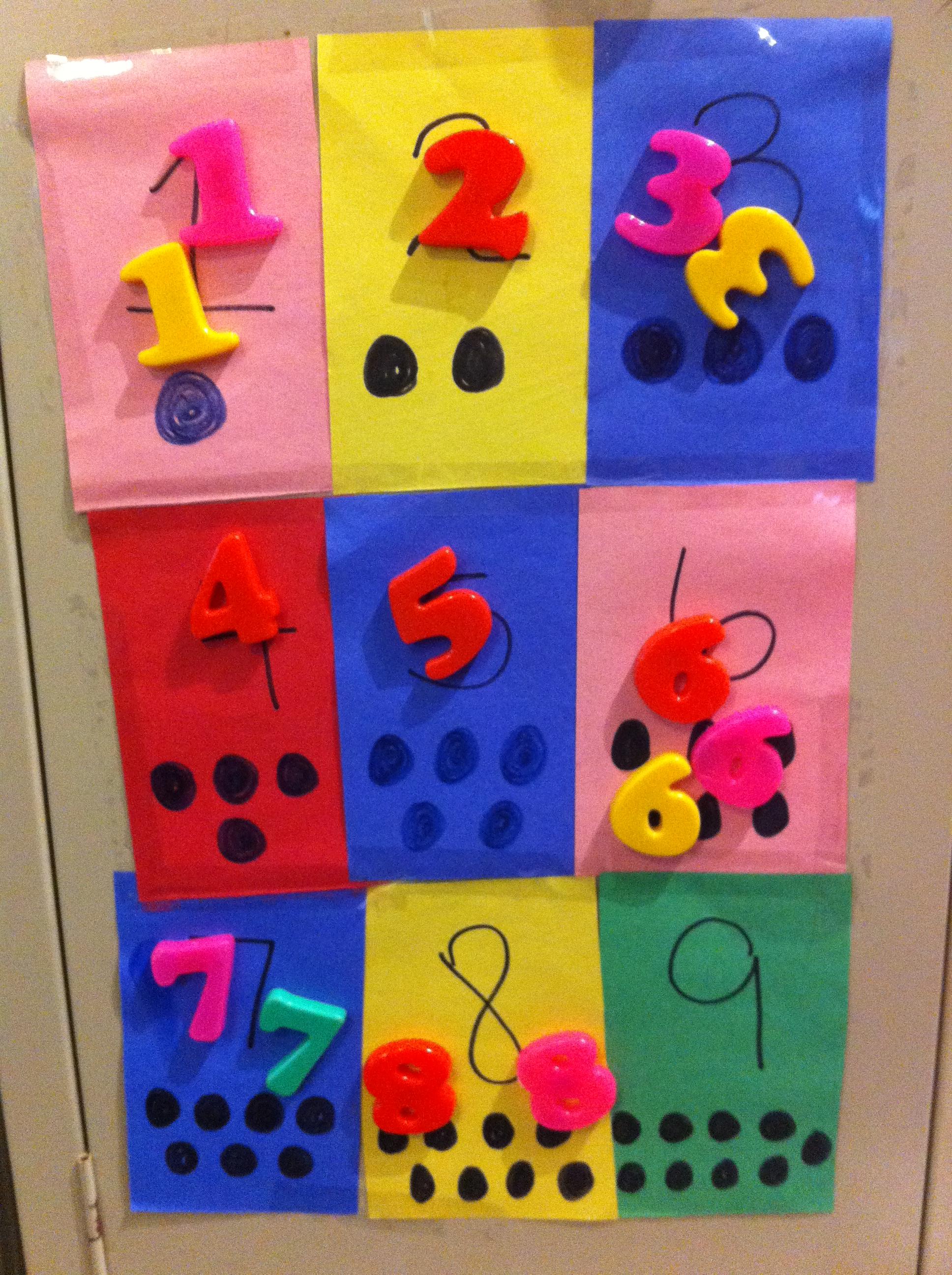 Toddler Number Learning Craft Toddler Crafts